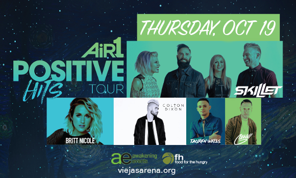 Air 1 Positive Hits Tour: Skillet, Britt Nicole, Colton Dixon & Tauren Wells at Viejas Arena